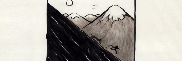The_Mountain_Thief_peterkaweck_ink_drawing_Shapeshftr